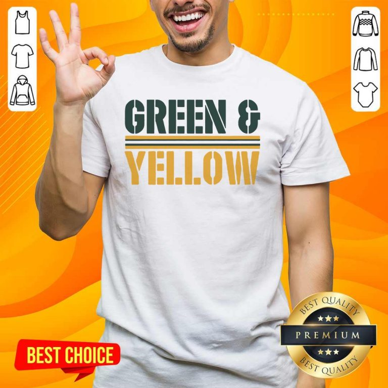 New 2 Green And Yellow Bay Shirt - Design by Handstee.com