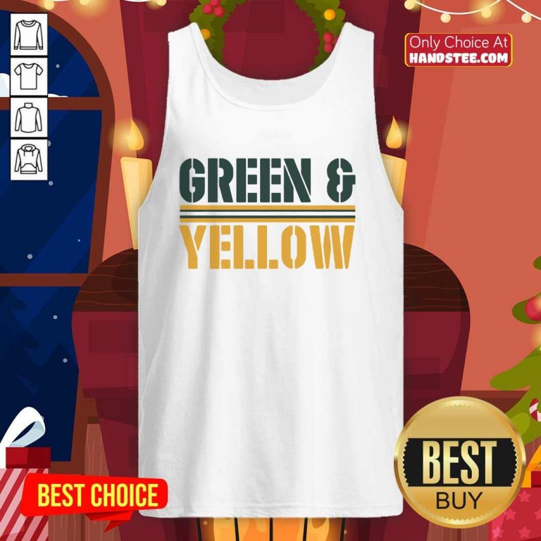 New 2 Green And Yellow Bay Tank Top - Design by Handstee.com