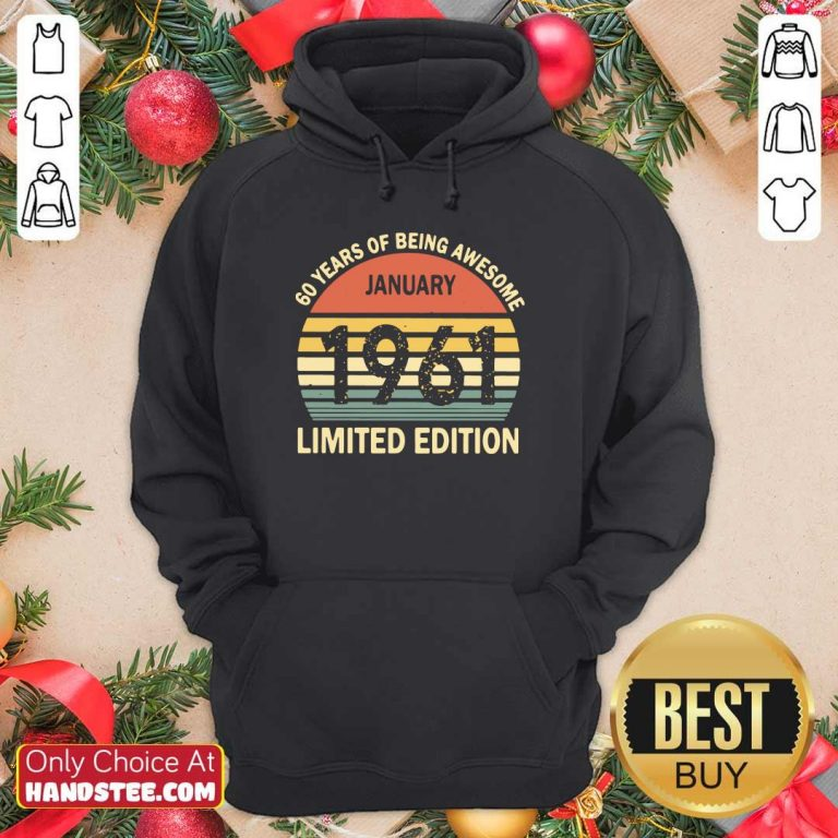 New January 1961 Limited Edition Hoodie - Design by Handstee.com