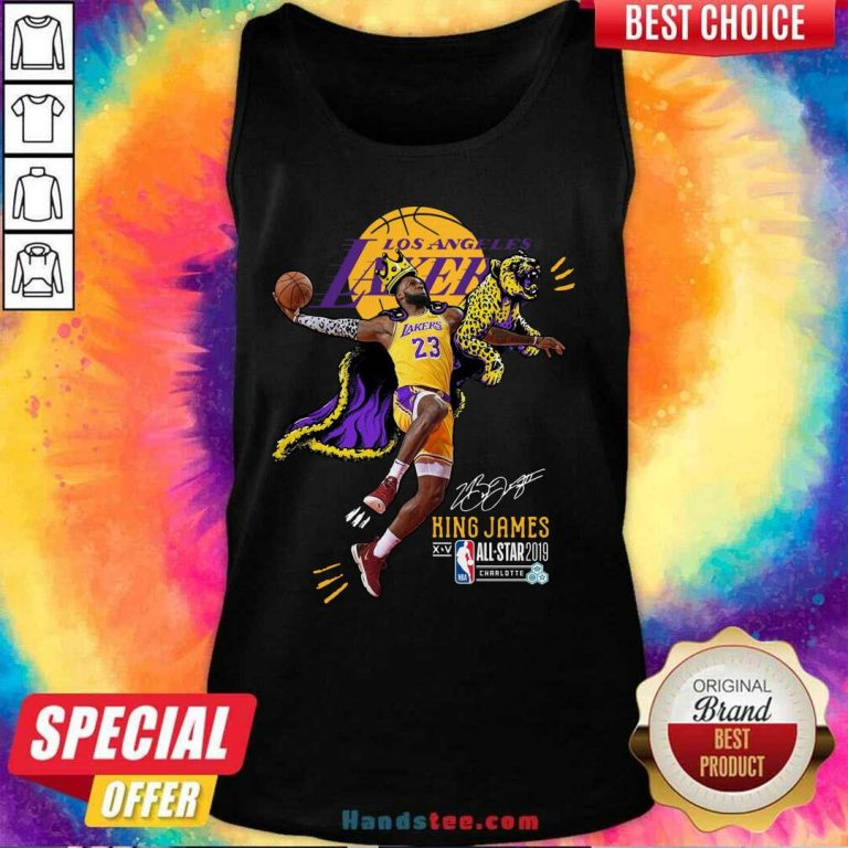 New Lakers King James All Stars 2019 Tank Top - Design by Handstee.com