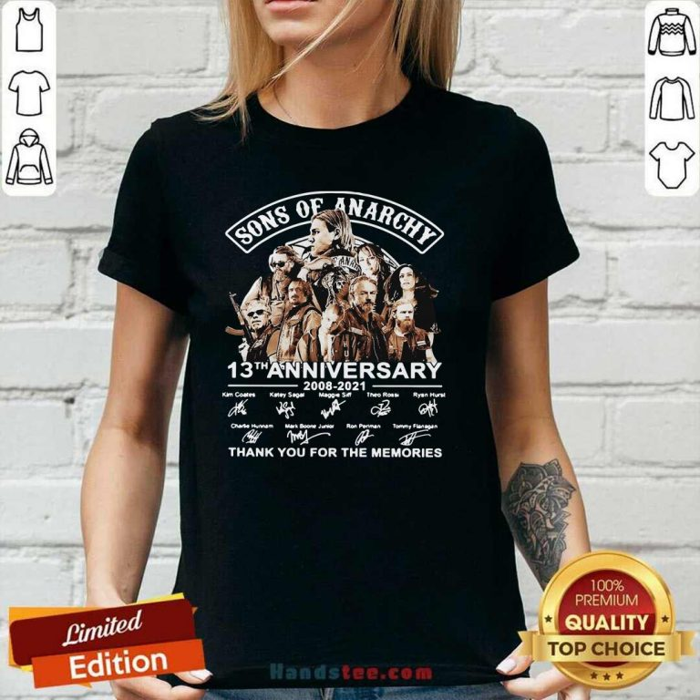 New Sons Of Anarchy 13th Anniversary V-neck - Design by Handstee.com