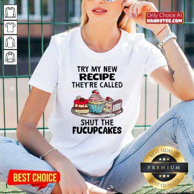 New Try Recipe 4 Fucupcakes V-neck - Design by Handstee.com