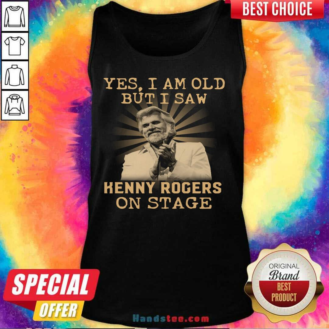 New Yes 44 Kenny Rogers On Stage Tank Top - Design by Handstee.com