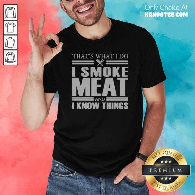 Nice 1 Do I Smoke Meat Shirt - Design by Handstee.com