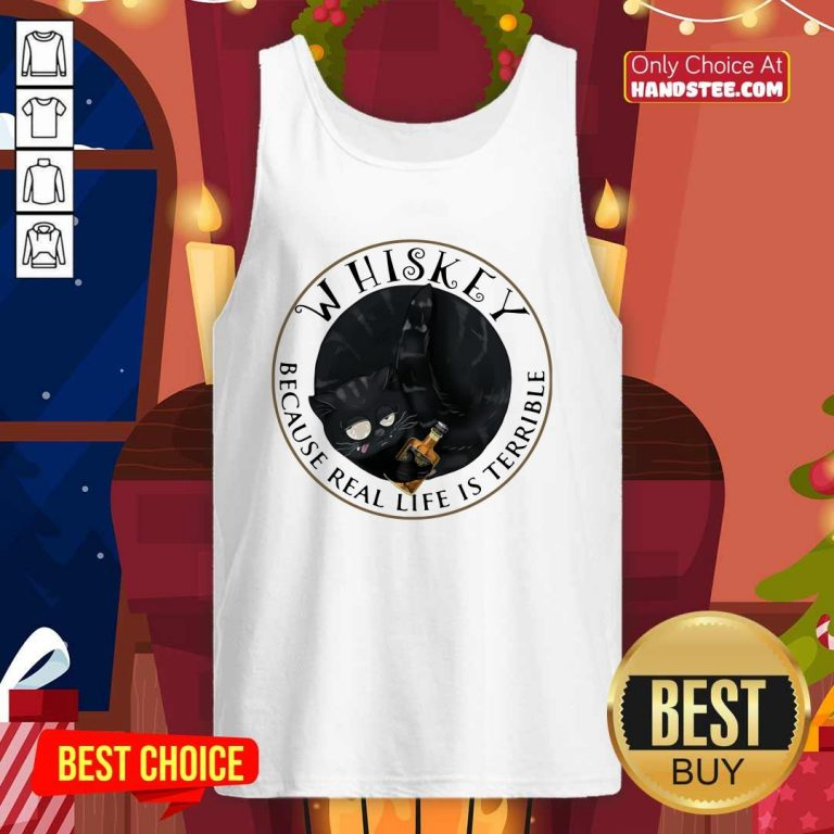 Nice 5 Whiskey Life Is Terrible Cats Tank Top - Design by Handstee.com