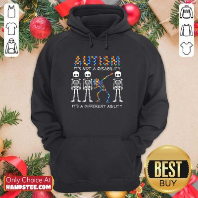Nice 8 Autism Its A Different Ability Hoodie - Design by Handstee.com