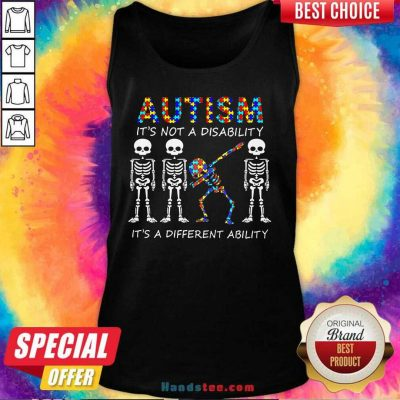 Nice 8 Autism Its A Different Ability Tank Top - Design by Handstee.com