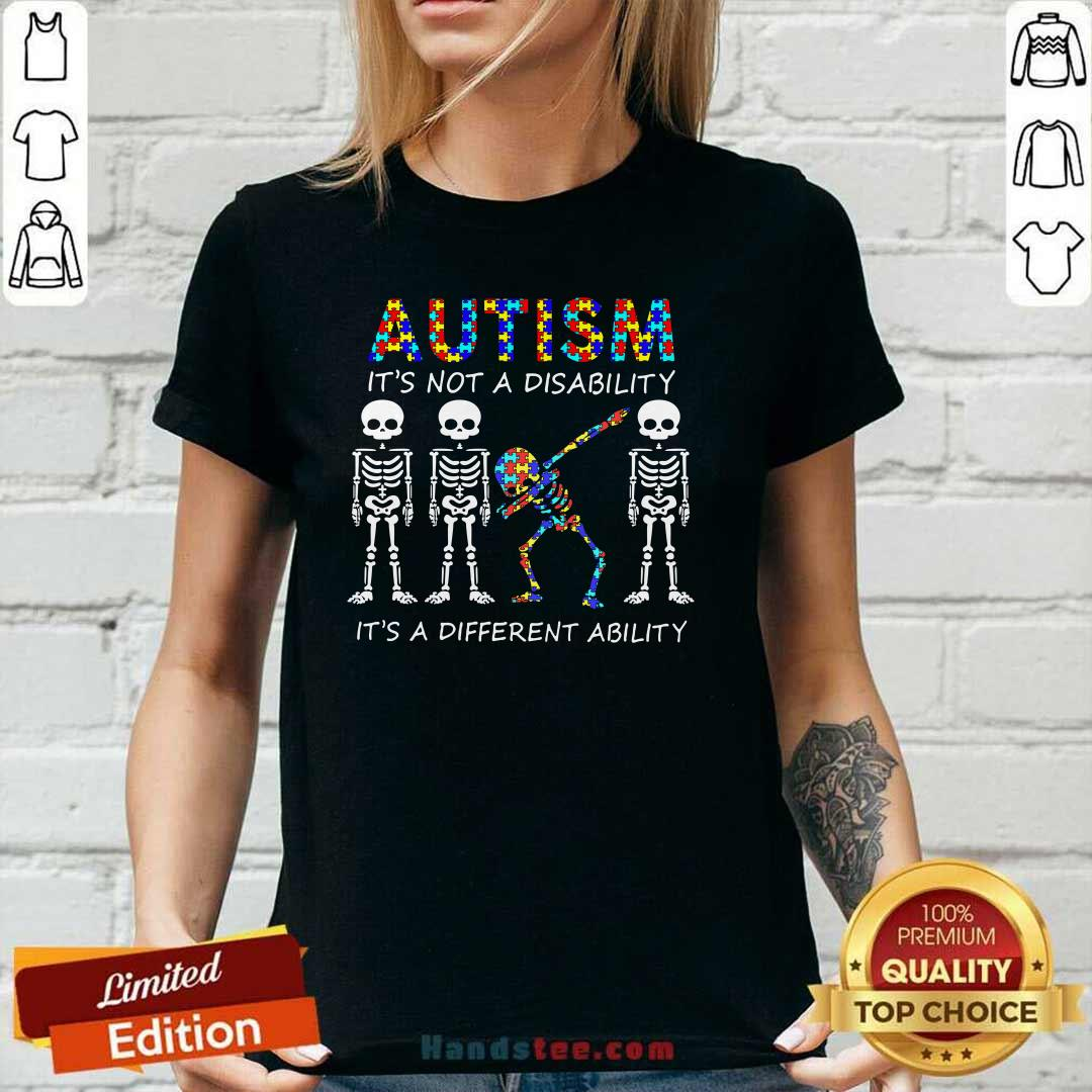 Nice 8 Autism Its A Different Ability V-neck - Design by Handstee.com