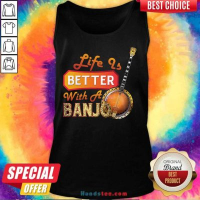 Nice Life Is Better With A Banjo 32 Tank Top - Design by Handstee.com