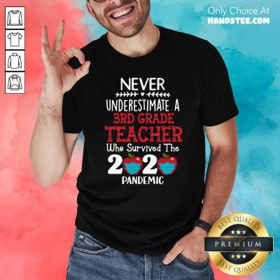 Nice Never Underestimate A 3rd Grade Teacher Who Survived 2020 Pandemic Shirt - Design by handstee.com