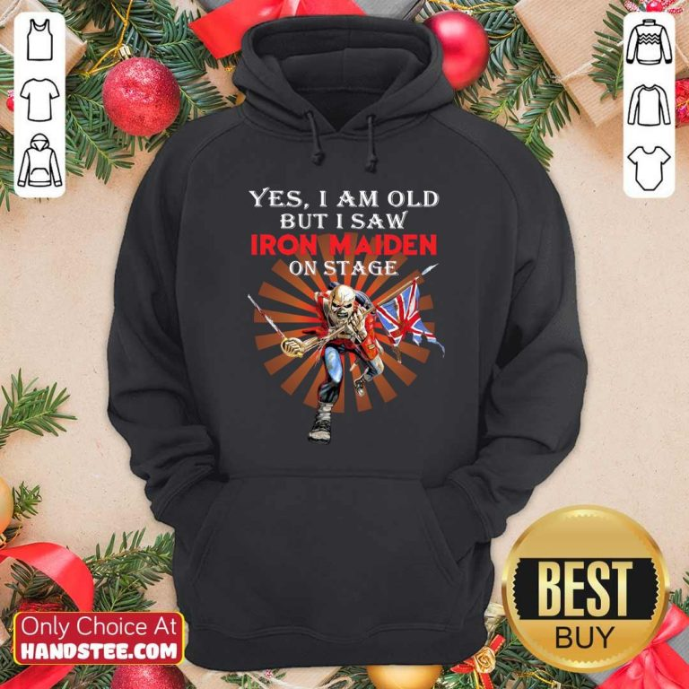Nice Saw Iron Maiden 42 On Stage Hoodie - Design by Handstee.com