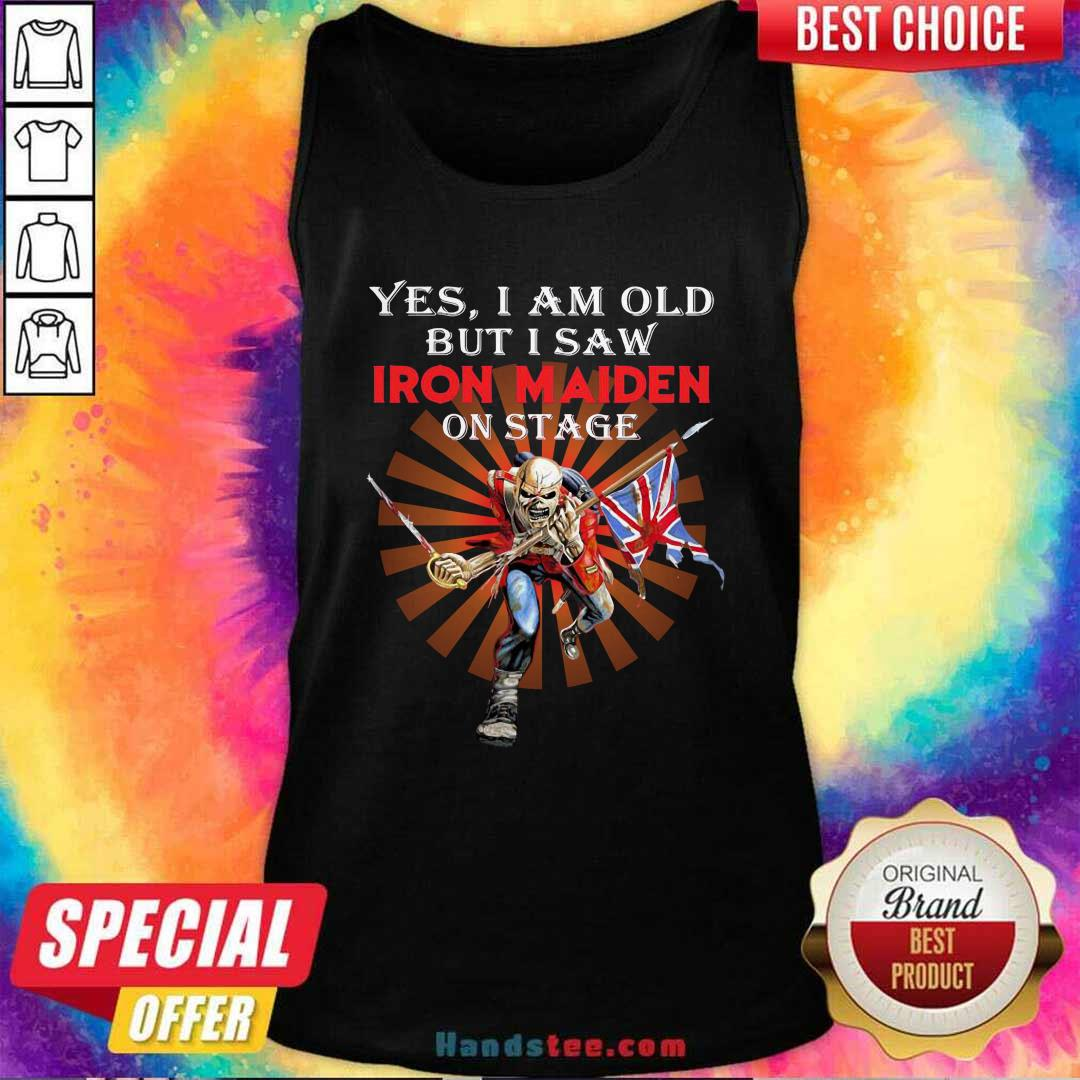 Nice Saw Iron Maiden 42 On Stage Tank Top - Design by Handstee.com