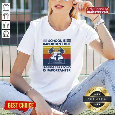 Nice School Important 5 Legends Car V-neck - Design by Handstee.com
