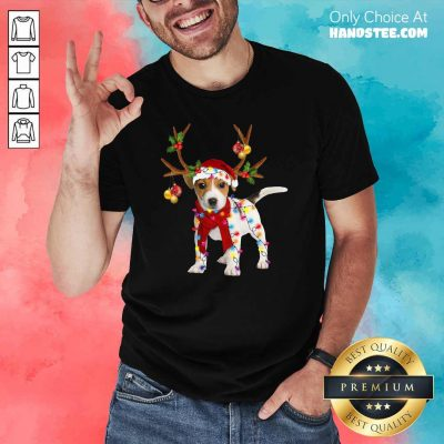 Nonplussed Jack Russell 24 Gorgeous Reindeer Christmas Shirt - Design by Handstee.com