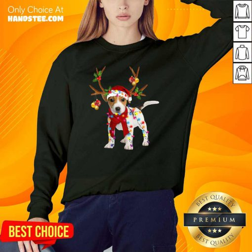 Nonplussed Jack Russell 24 Gorgeous Reindeer Christmas Sweater - Design by Handstee.com