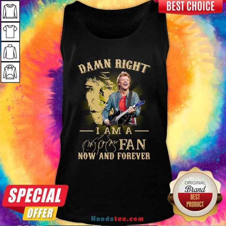 Official Damn Right I Am A Fan Now And Forever Signature Tank Top - Design by handstee.com