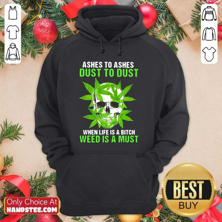 Original Ashes To Dust Is A 8 Must Hoodie - Design by Handstee.com