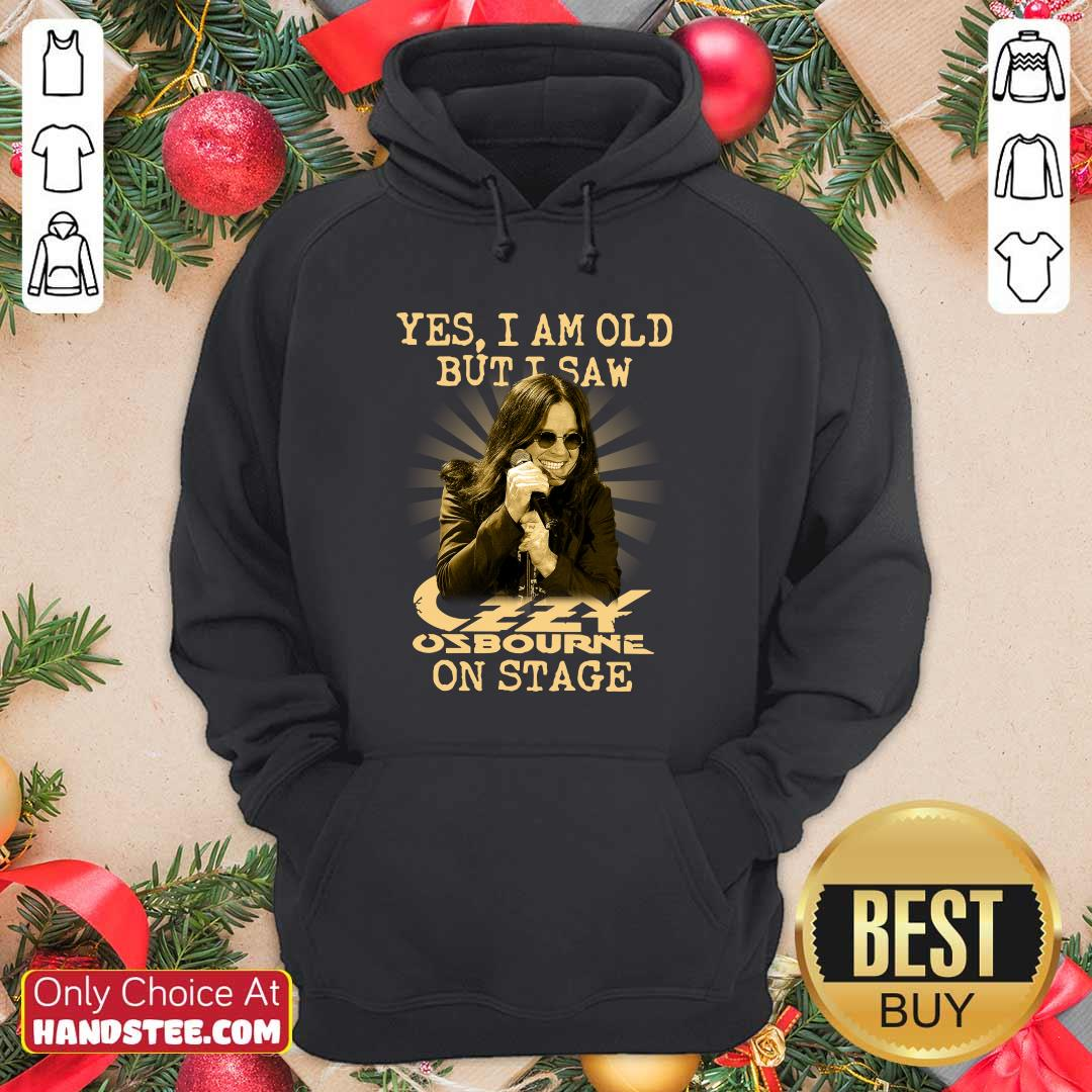 Perfect Yes Ozzy Osbourne On Stage 16 Hoodie - Design by Handstee.com