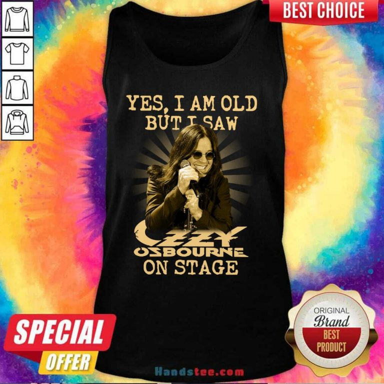 Yes Ozzy Osbourne On Stage 16 Tank Top - Design by Handstee.com