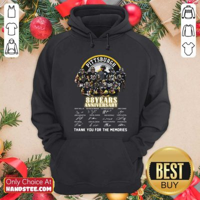 Pittsburgh Steelers 88 Years Anniversary Thank You For The Memories Signatures Hoodie - Design by handstee.com