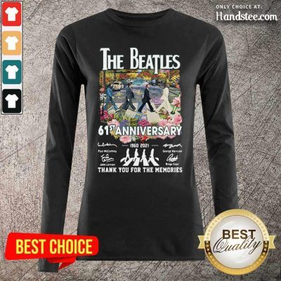 Great The Beatles 61st Anniversary Long-Sleeved