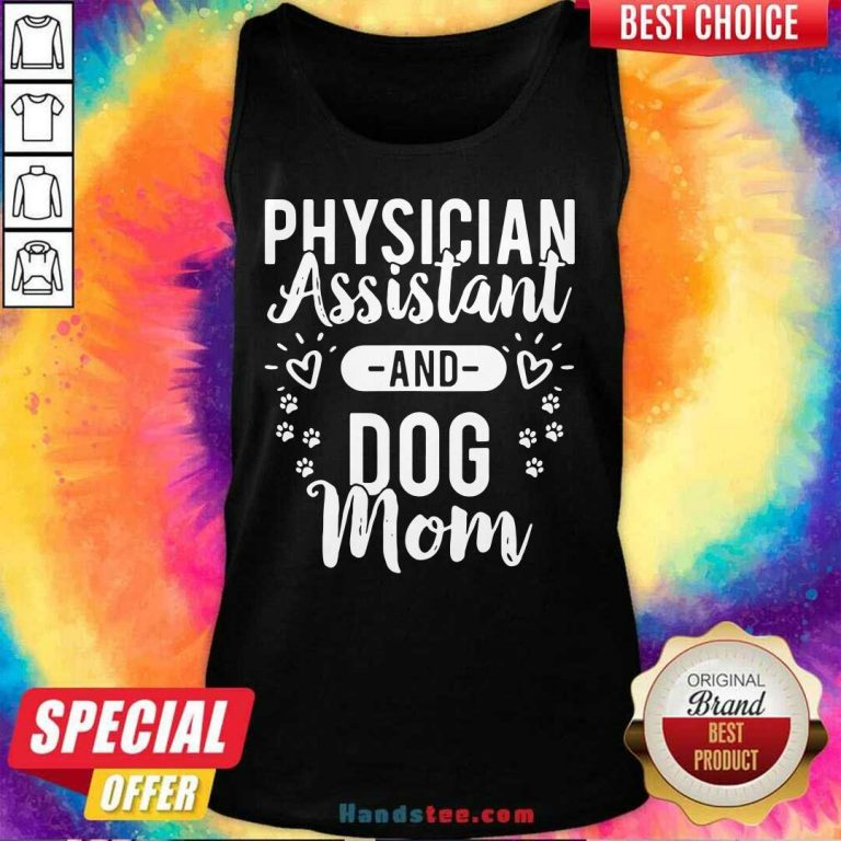Premium 3 Assistant Physician Dog Mom Tank Top - Design by Handstee.com