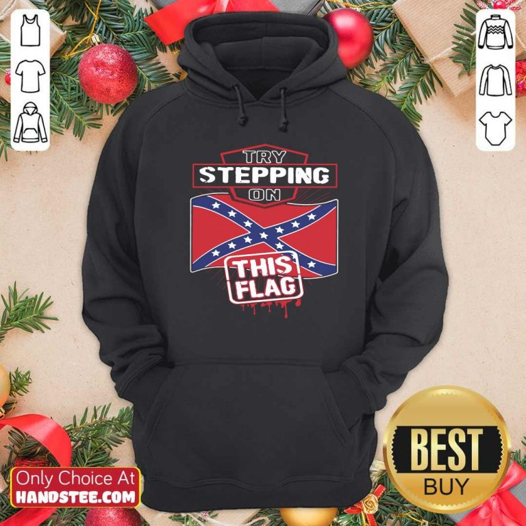 Premium Try Stepping On This Novorossiya Flag Hoodie - Design by handstee.com