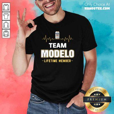 Pretty Team Modelo Lifetime Member 6 Shirt - Design by Handstee.com