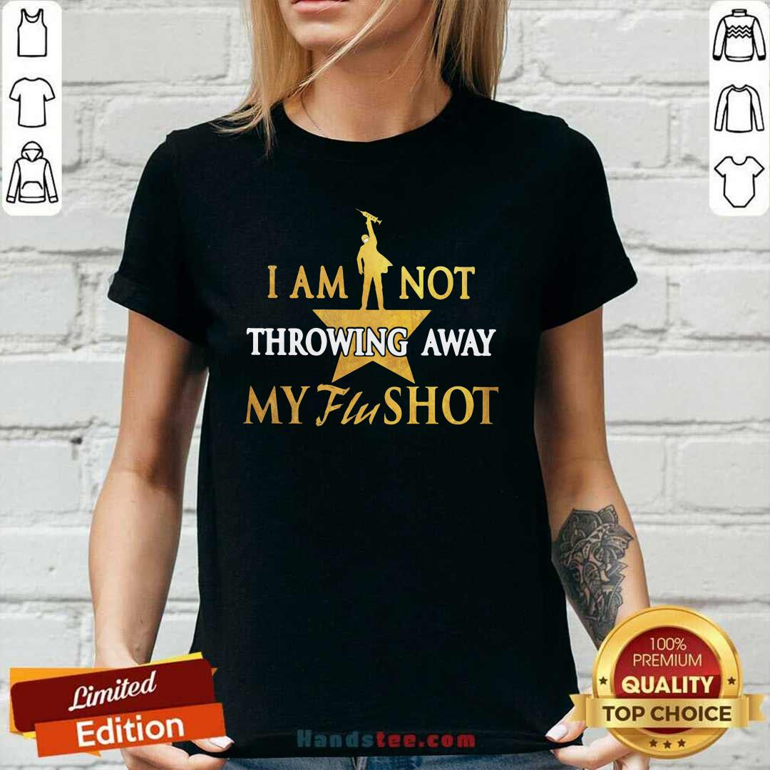 Relaxed I Am Not Throwing Away My Flu 19 Shot Ladies Tee - Design by Handstee.com