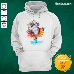 Sad Kitten Ballerina Daisy Flower Dance Persian 17 Cat Hoodie - Design by Handstee.com