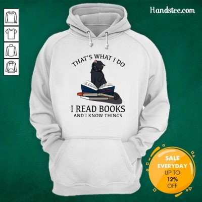 Scared I Read Books And I Knows Things Cat 8 Hoodie