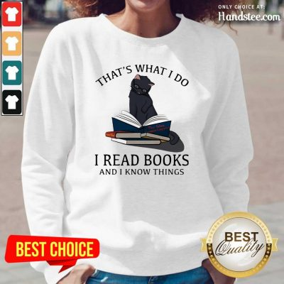 Scared I Read Books And I Knows Things Cat 8 Long-Sleeved