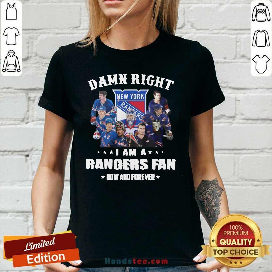 Seething The New York Rangers Damn Right Im A Rangers 3 Ladies Tee