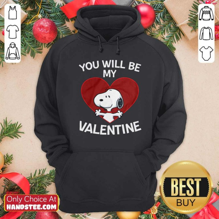 Snoopy Heart You Will Be My Valentine Hoodie - Design by handstee.com