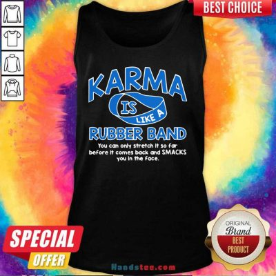Surprised Karma 36 Rubber Band Tank Top - Design by Handstee.com