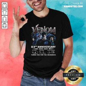 Surprised Venom 03rd Anniversary Shirt - Design by Handstee.com