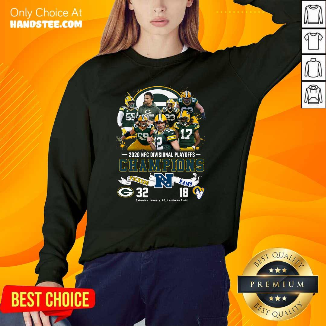 Tense 2020 NFC Champions Packers 32 Rams 18 Sweater