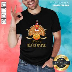 Tense Happy 8 Hockeyving Rooster Shirt - Design by Handstee.com