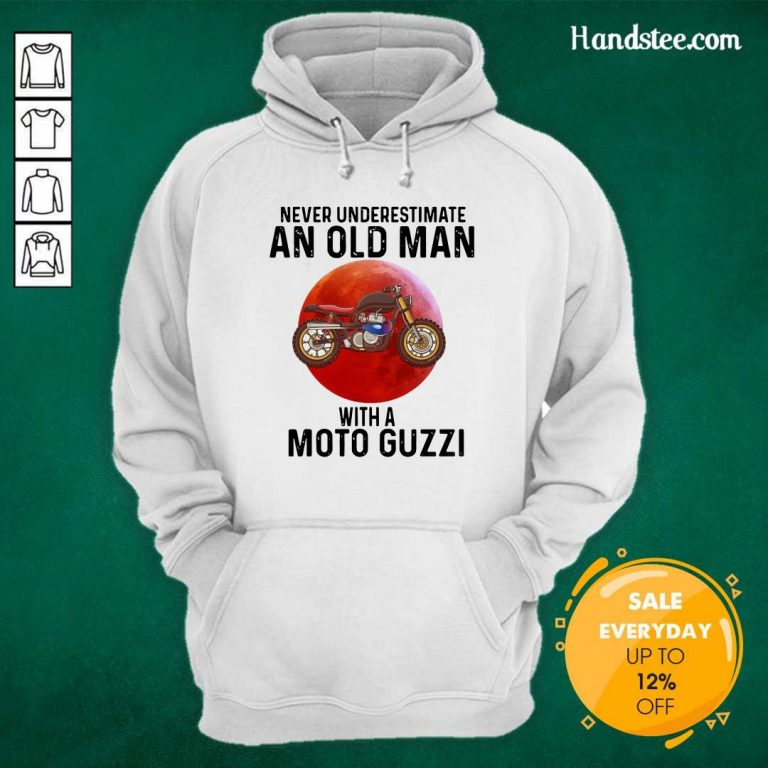 Tense Old Man With A Moto Guzzi 3 Hoodie