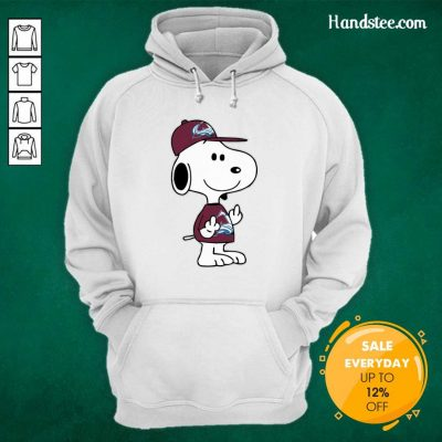 Tense Snoopy Colorado Avalanche NHL Double Middle Fingers 8 Hoodie