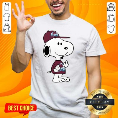 Tense Snoopy Colorado Avalanche NHL Double Middle Fingers 8 Shirt