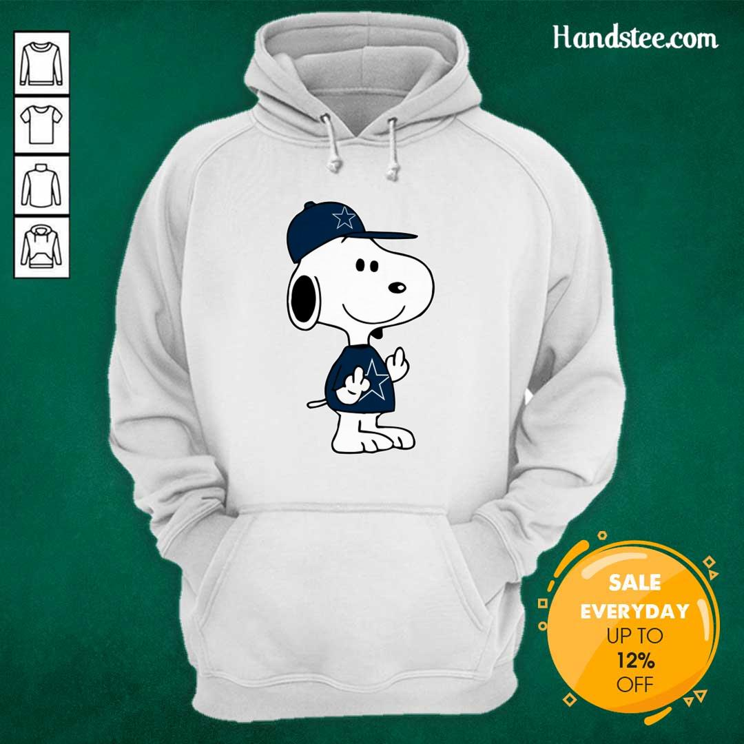 Tense Snoopy Dallas Cowboys NFL Double Middle Fingers 5 Hoodie