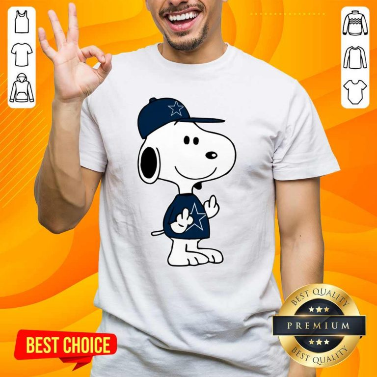 Tense Snoopy Dallas Cowboys NFL Double Middle Fingers 5 Shirt
