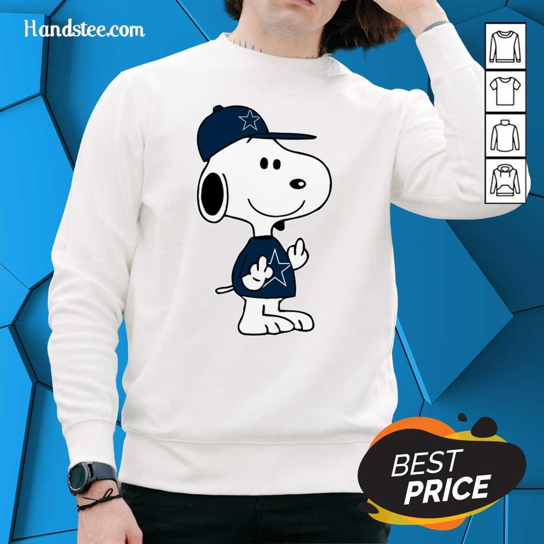 Tense Snoopy Dallas Cowboys NFL Double Middle Fingers 5 Sweater