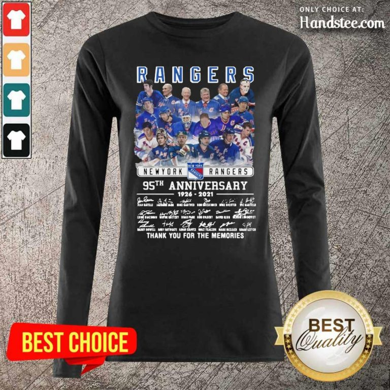 Tense The Rangers Team Players 95th Anniversary 1926 2021 Long-Sleeved