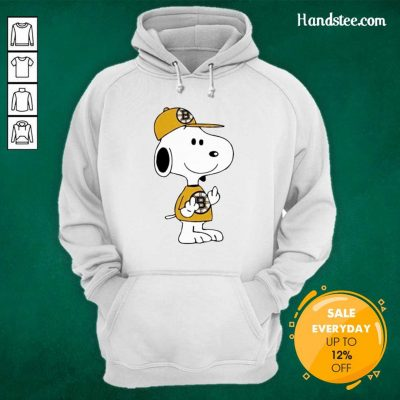 Tired Snoopy Boston Bruins NHL Middle Fingers 5 Hoodie