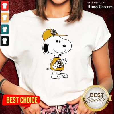 Tired Snoopy Boston Bruins NHL Middle Fingers 5 Ladies Tee