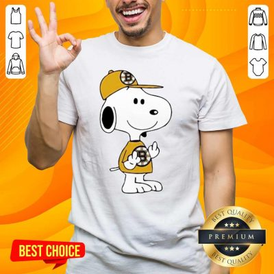Tired Snoopy Boston Bruins NHL Middle Fingers 5 Shirt