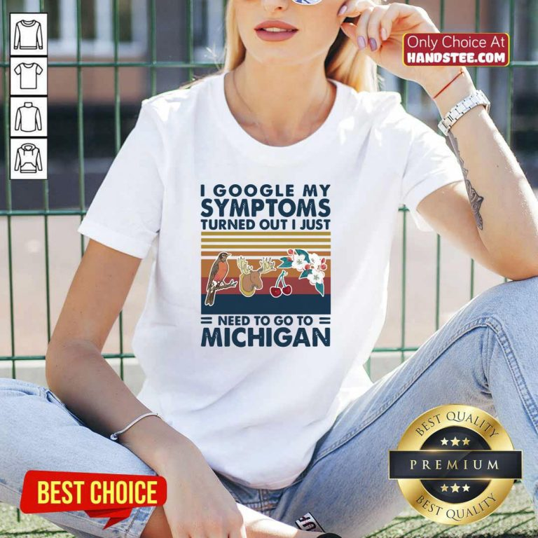 Top 5 Just Need Go To Michigan V-neck - Design by Handstee.com