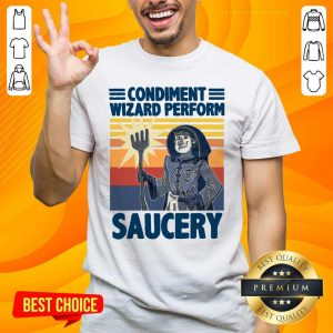 Top Condiment Wizard 5 Perform Shirt - Design by Handstee.com